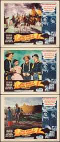 """Movie Posters:Western, She Wore a Yellow Ribbon (RKO, 1949). Overall: Very Fine-. Lobby Cards (3) (11"""" X 14""""). Western.. ... (Total: 3 Items)"""