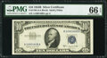 Small Size:Silver Certificates, Fr. 1708 $10 1953B Silver Certificate. PMG Gem Uncirculated 66 EPQ.. ...