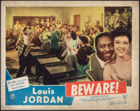 """Beware (Astor Pictures, 1946). Fine. Lobby Card (11"""" X 14""""). Black Films"""