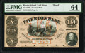 Obsoletes By State:Rhode Island, Fall River, RI- Tiverton Bank $10 18__ G20b Proof PMG Choice Uncirculated 64, POCs.. ...