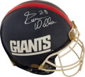 Football Collectibles:Helmets, 1991 Everson Walls Super Bowl XXV Worn & Signed New York Giants Helmet with Player Letter....