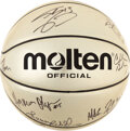 Basketball Collectibles:Balls, 1996 Dream Team II Signed Gold Basketball from The Steve Koonin Collection....
