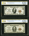Fr. 1860-B $10 1929 Federal Reserve Bank Note. PCGS Banknote Extremely Fine 40 PPQ; Fr. 1890-D $100 1929 Federal Reserve...