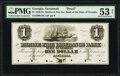 Obsoletes By State:Georgia, Savannah, GA-Marine Fire Insurance Bank of the State of Georgia $1 18__ Haxby Unlisted Proof PMG About Uncirculated 53 Net...