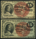 Fractional Currency:Fourth Issue, Fr. 1267 15¢ Fourth Issue About New;. Fr. 1271 15¢ Fourth Issue About New.. ... (Total: 2 notes)