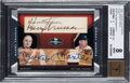 Baseball Cards:Singles (1970-Now), 2007 Topps Co-Signers Mantle/Truman (Dual Cut Signatures) #TM BGS NM-MT 8, Auto 7 - #'d 1/1! ...