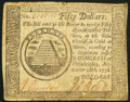 Continental Currency September 26, 1778 $50 Very Fine