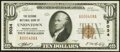 National Bank Notes:Pennsylvania, Uniontown, PA - $10 1929 Ty. 1 The Second National Bank Ch. # 5034 Extremely Fine.. ...