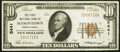 National Bank Notes:Pennsylvania, Masontown, PA - $10 1929 Ty. 1 The First National Bank Ch. # 5441 Very Fine+.. ...