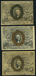 Fractional Currency:Second Issue, Fr. 1246 10¢ Second Issue Two Examples Very Fine or Better;. Fr. 1247 10¢ Second Issue Very Fine-Extremely Fine.. ... (Total: 3 notes)