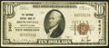 National Bank Notes:Pennsylvania, Brownsville, PA - $10 1929 Ty. 1 The National Deposit Bank Ch. # 2457 Very Fine-Extremely Fine.. ...