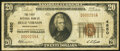 National Bank Notes:Pennsylvania, Belle Vernon, PA - $20 1929 Ty. 1 The First National Bank Ch. # 4850 Very Fine.. ...