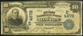 National Bank Notes:Pennsylvania, Dawson, PA - $10 1902 Date Back Fr. 620 The First National Bank Ch. # (E)4673 Very Good.. ...