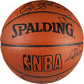 Basketball Collectibles:Balls, 2003-04 Cleveland Cavaliers Team Signed Basketball with Team Letter - LeBron James Rookie Season!...