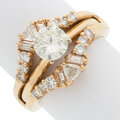 Estate Jewelry:Rings, Diamond, Gold Ring. ... (Total: 2 Items)