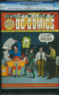 Amazing World of DC Comics #10 (DC, 1976) CGC NM+ 9.6 White pages