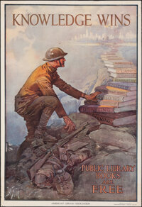 """World War I Propaganda (American Library Association, 1918). Rolled, Very Fine-. Poster (19"""" X 28"""") """"Know..."""