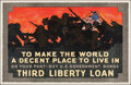 "Movie Posters:War, World War I Propaganda (Edwards & Deutsch Litho Co., 1918). Folded, Very Fine-. Third Liberty Loan Poster (36"" X 56"") ""To Ma..."