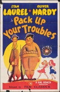 """Movie Posters:Comedy, Pack Up Your Troubles (Film Classics, R-1944). Folded, Fine. One Sheet (27"""" X 41""""). Comedy.. ..."""
