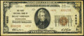 National Bank Notes:Pennsylvania, Belle Vernon, PA - $20 1929 Ty. 2 The First National Bank Ch. # 4850 Very Fine.. ...