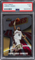 Basketball Cards:Singles (1980-Now), 2003 Finest Lebron James #133 PSA NM 7....