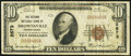 National Bank Notes:Pennsylvania, Brownsville, PA - $10 1929 Ty. 1 The Second National Bank Ch. # 2673 Fine-Very Fine.. ...