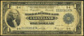 Large Size:Federal Reserve Bank Notes, Fr. 719 $1 1918 Federal Reserve Bank Note Very Good.. ...