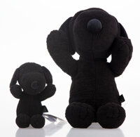 KAWS X Peanuts Snoopy (two works), 2017 Polyester plushes 9 x 22 x 9 inches (22.9 x 55.9 x 22.9 c... (Total: 2)