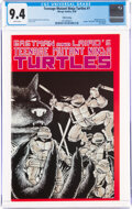Modern Age (1980-Present):Alternative/Underground, Teenage Mutant Ninja Turtles #1 Fifth Printing (Mirage Studios, 1988) CGC NM 9.4 White pages....