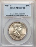 Franklin Half Dollars, 1954-D 50C MS66 Full Bell Lines PCGS. PCGS Population: (232/4). NGC Census: (53/3). CDN: $450 Whsle. Bid for NGC/PCGS MS66....
