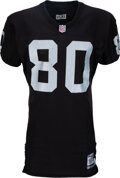 Football Collectibles:Uniforms, 2001 Jerry Rice Game Worn & Unwashed Oakland Raiders Jersey Used on 10/7 vs. the Cowboys - Career Touchdown #190!...