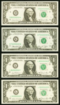 Small Size:Federal Reserve Notes, Seven in a Row $1 Federal Reserve Notes. Choice Crisp Uncirculated.. Fr. 1908-K 1974:. Fr. 1911-L 1981;. Fr. 1912-... (Total: 4 notes)