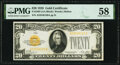 Fr. 2402 $20 1928 Gold Certificate. PMG Choice About Unc 58