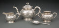Silver & Vertu, A Four-Piece Sing Fat Chinese Export Silver Tea Set, early 20th century . Marks: (SanYi mark), SF, 90 . 6-1/2 x 6750 x 1... (Total: 4 Items)