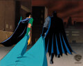 Animation Art:Production Cel, Batman: The Animated Series Batman and Robin Production Cel with Master Background (Warner Brothers, c....