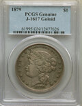 Patterns, 1879 $1 Goloid Metric Dollar, Judd-1617, Pollock-1813, R.4, PCGS Genuine. Proof Details....