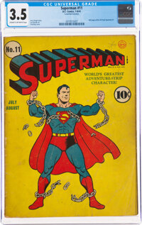 Superman #11 (DC, 1941) CGC VG- 3.5 Cream to off-white pages