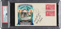 Baseball Collectibles:Others, 1946 Babe Ruth Signed & Inscribed First Day Cover, PSA/DNA NM-MT 8....
