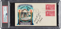 1946 Babe Ruth Signed & Inscribed First Day Cover, PSA NM-MT 8