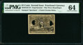 Fractional Currency:Second Issue, Milton 2E25F.3f 25¢ Second Issue PMG Choice Uncirculated 64.. ...