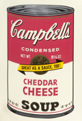 Prints & Multiples, Andy Warhol (1928-1987). Cheddar Cheese, from Campbell's Soup II, 1969. Screenprint in colors on paper. 35 x 23 inch...