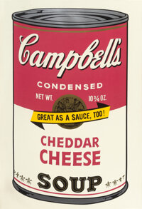 Andy Warhol (1928-1987) Cheddar Cheese, from Campbell's Soup II, 1969 Screenprint in colo