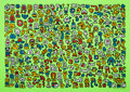 Prints & Multiples, Mr. Doodle (b. 1994). Alien Town, 2020. Screenprint in colors on wove paper. 19-5/8 x 27-1/2 inches (50 x 70 cm) (sheet)...
