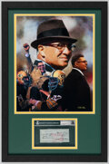 Autographs:Checks, 1968 Vince Lombardi Signed Personal Check Display. ...