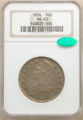 1834 50C Large Date, Large Letters, MS63 NGC. CAC. NGC Census: (112/216). PCGS Population: (82/68). CDN: $1,300 Whsle. B...