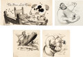 "Animation Art:Production Drawing, Walt Disney's Treasure Chest ""The Brave Little Tailor"" Mickey Mouse Storybook Page Illustrations Group of 3 (Walt Disn... (Total: 5 Items)"