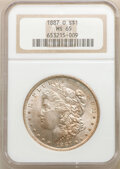 Morgan Dollars: , 1887-O $1 MS65 NGC. NGC Census: (79/5). PCGS Population: (392/14). CDN: $1,500 Whsle. Bid for NGC/PCGS MS65. Mintage 11,550...