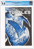 Modern Age (1980-Present):Alternative/Underground, Teenage Mutant Ninja Turtles #2 Second Printing (Mirage Studios, 1985) CGC NM/MT 9.8 White pages....