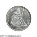 Seated Half Dollars: , 1879 50C MS67 NGC. The 1879 half dollar is the first in a ...