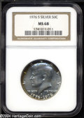 Kennedy Half Dollars: , 1976-S 50C Silver MS68 NGC. Satiny surfaces with bright ...